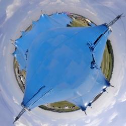 360º of the Kayam Big Top Concert Tent