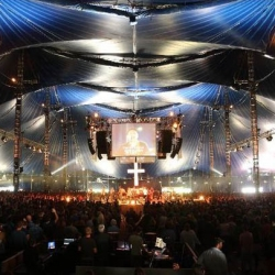 The Valhalla Big Top Tent at Soul Survivor, England