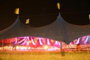 Decorations inside the Kayam Big Top Tent at Womad Festival