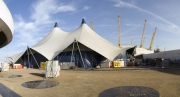 The Valhalla Big Top Tent outside the O2 Arena, London